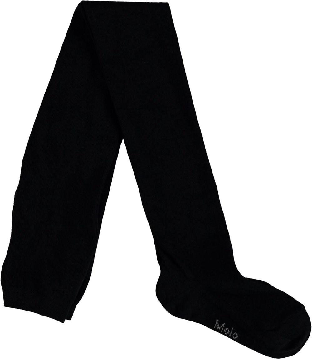 Solid Tights - Black - Sorte strømpebukser.
