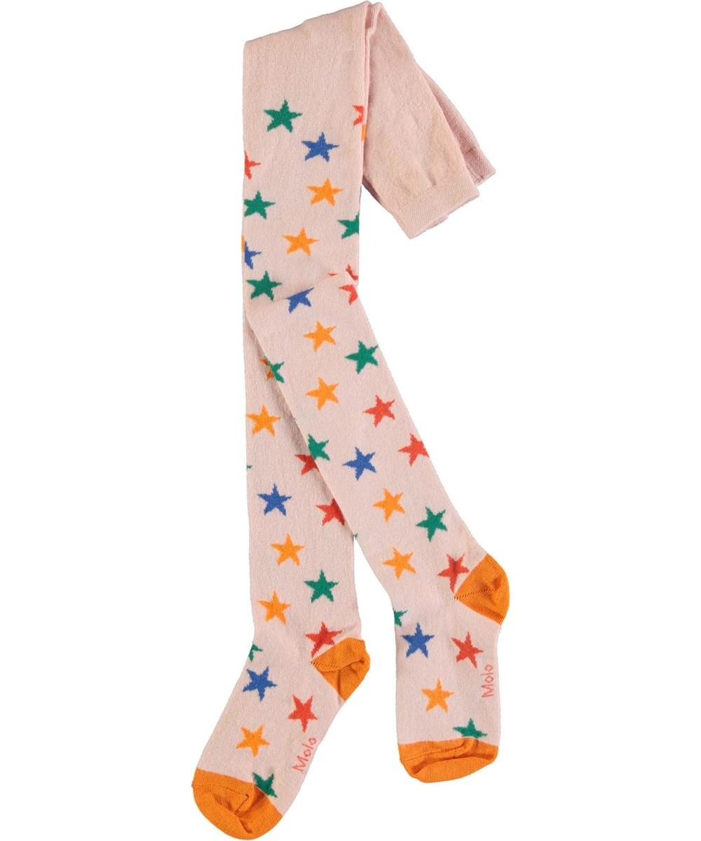 Star Tights - Rainbow Stars - Strømpebukser med multi farvede stjerner