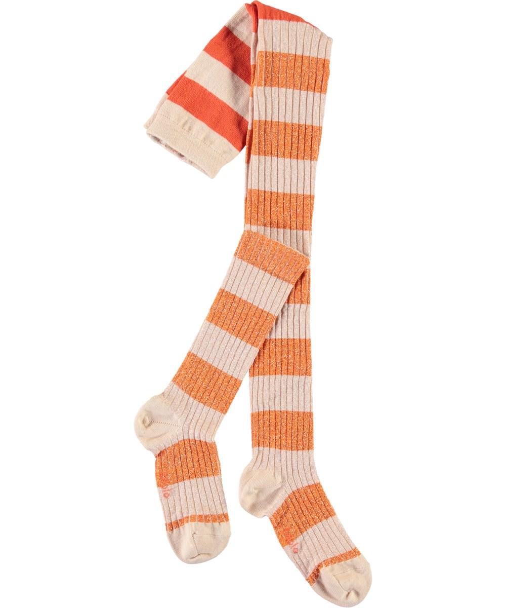 Stripy Tights - Blossom Stripe - Strømpebukser i rib med striber