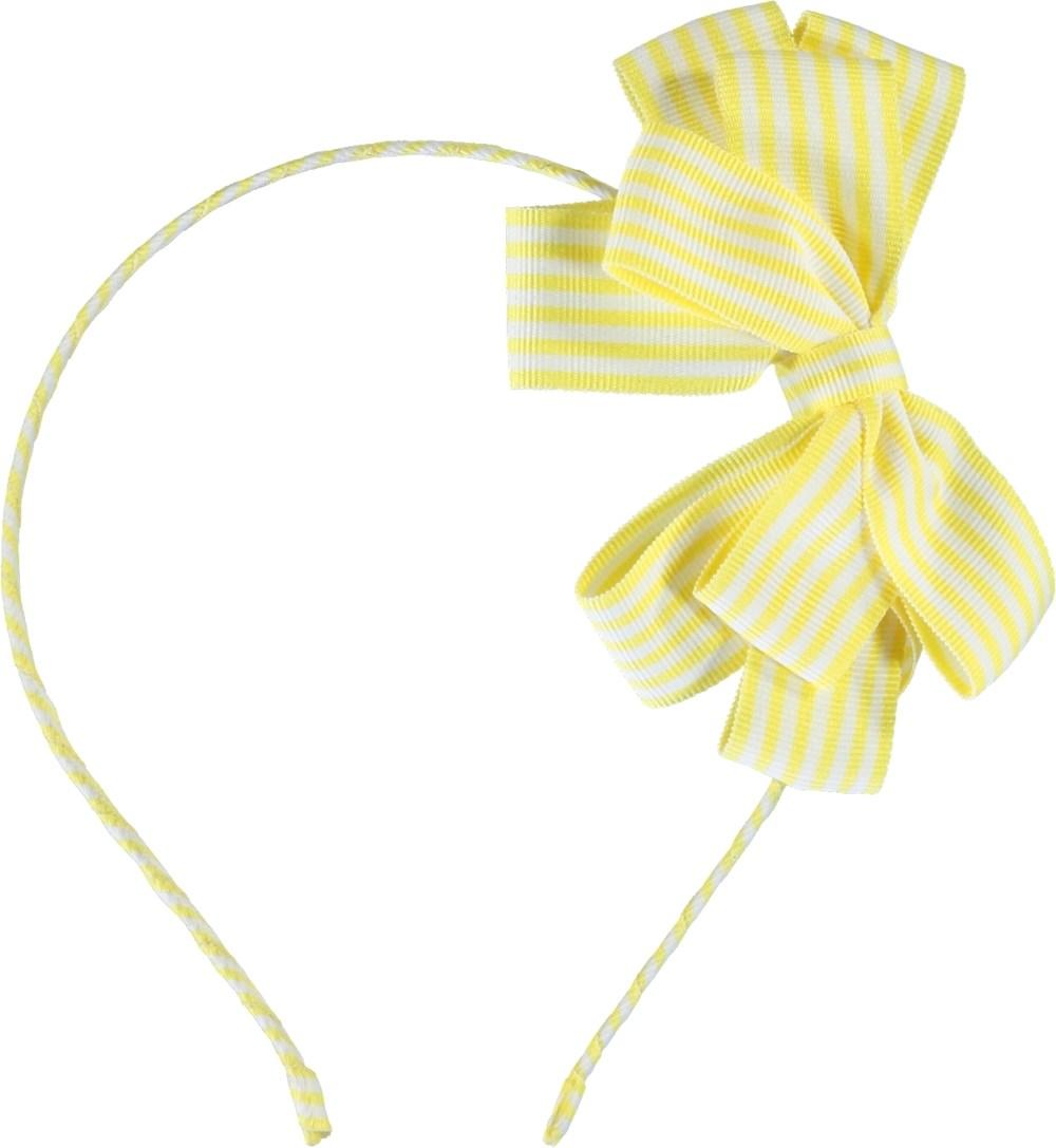 Grosgrain Bow Hair Band - Mixed Stripes - Grosgrain Bow Hairband