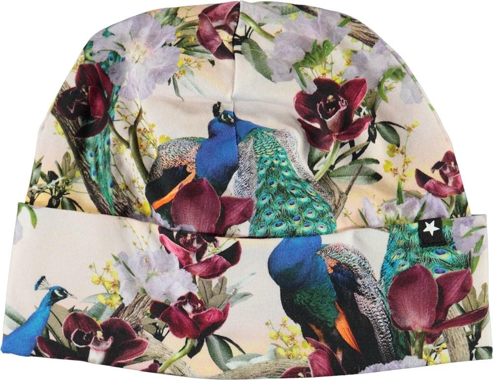 Namora - Oriental Peacocks - Hue med påfugle og blomster.