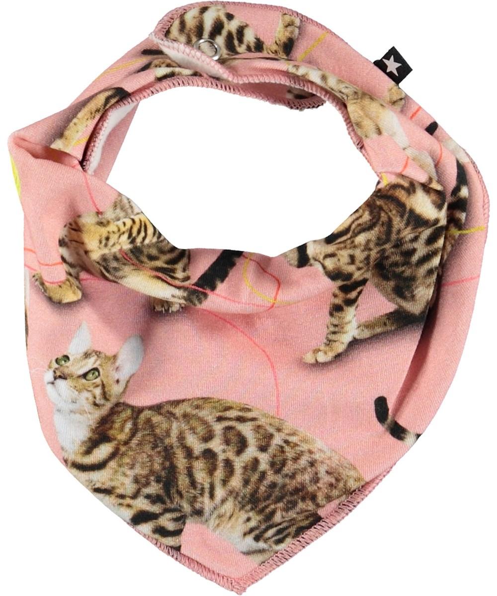 Nayela - Wannabe Leopard - Lyserød hagesmæk med katte.