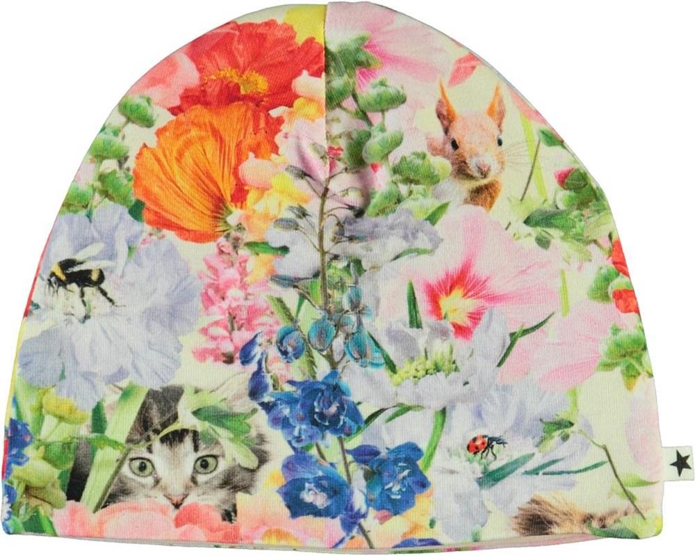 Ned - Hide And Seek - Økologisk lyserød babyhue med blomster