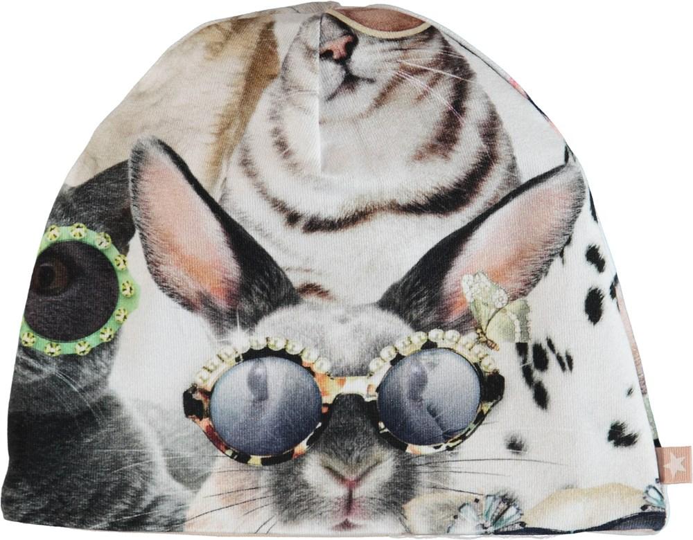 Nedine - Sunny Funny - Hue med print af dyr.