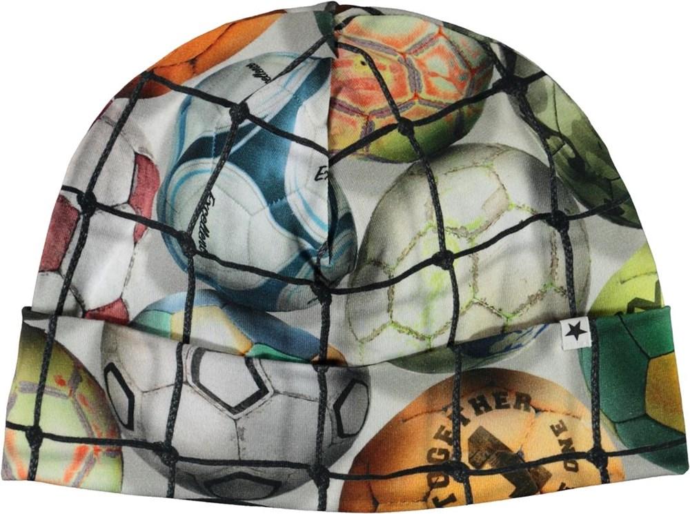 Nico - Footballs - Hue med print af fodbolde