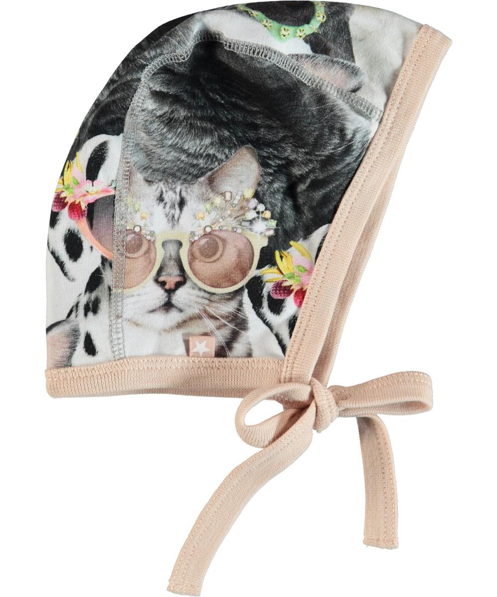 Ninna - Sunny Funny - Babyhue med print af dyr.