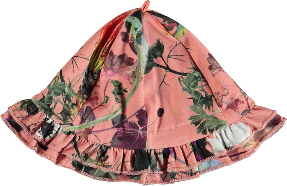 Nizana - Flowers Of The World - Blomstret bøllehat med flæsekant.