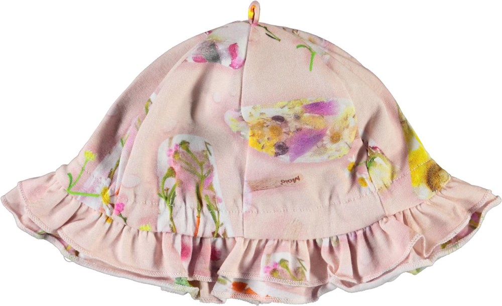 Nizana - Ice Lollies - Lyserød baby solhat med is print