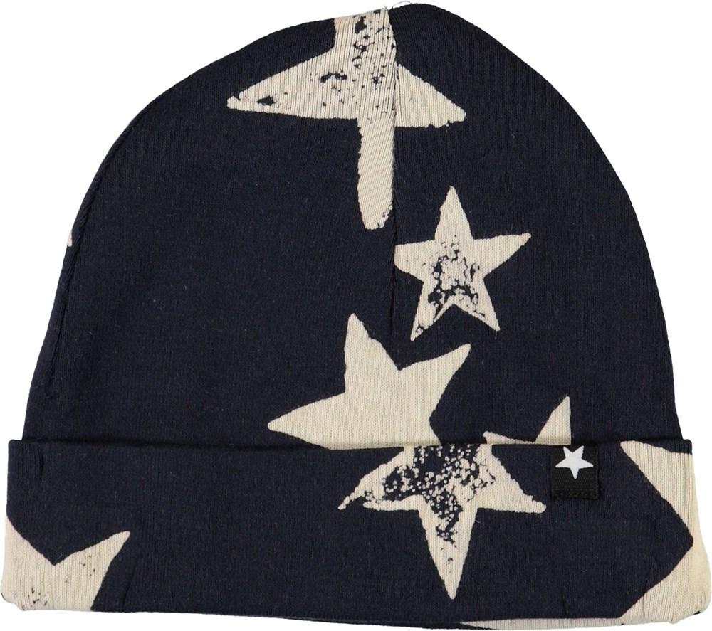 Noe - White Navy Star - Mørkeblå stjerne babyhue