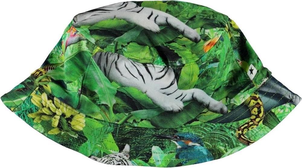 Nomly - Fantasy Jungle - Grøn bøllehat med print af dyr
