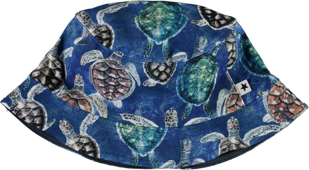 Nomly - Mini Turtles - Blå bøllehat med skildpadder