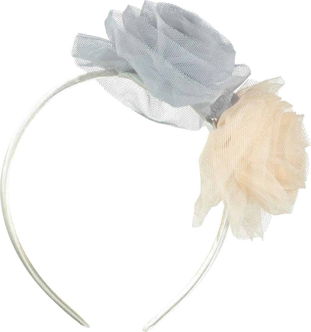 Pom Pom Hairband - Petal Blush - Hårbøjle med tyl roser.