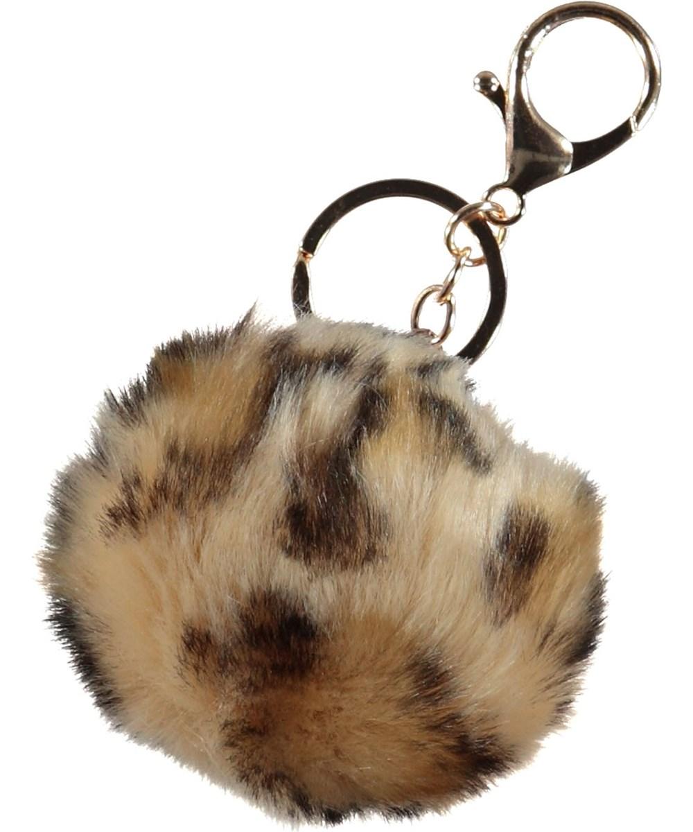 Pom Pom Keychain - Leopard - Nøglering med leopard.