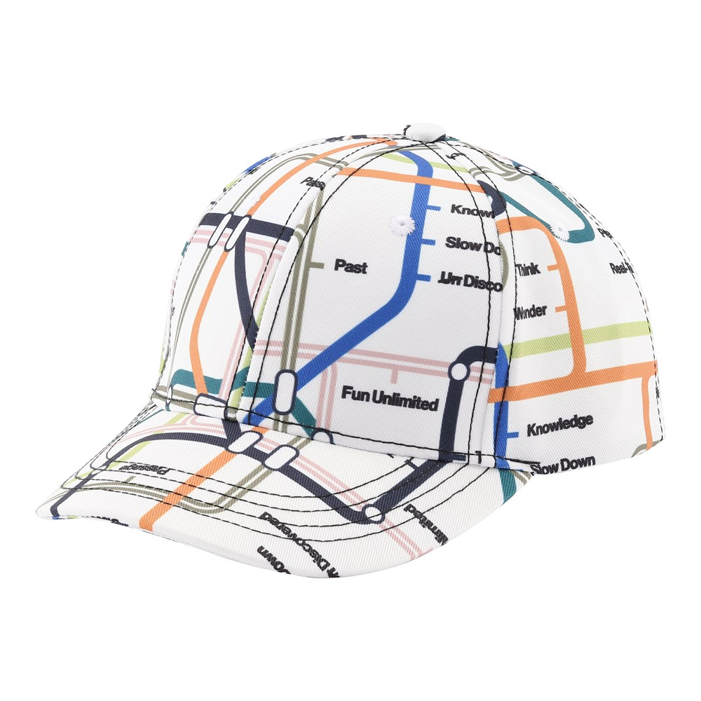 Sebastian - Subway Map - Baseball kasket med print.