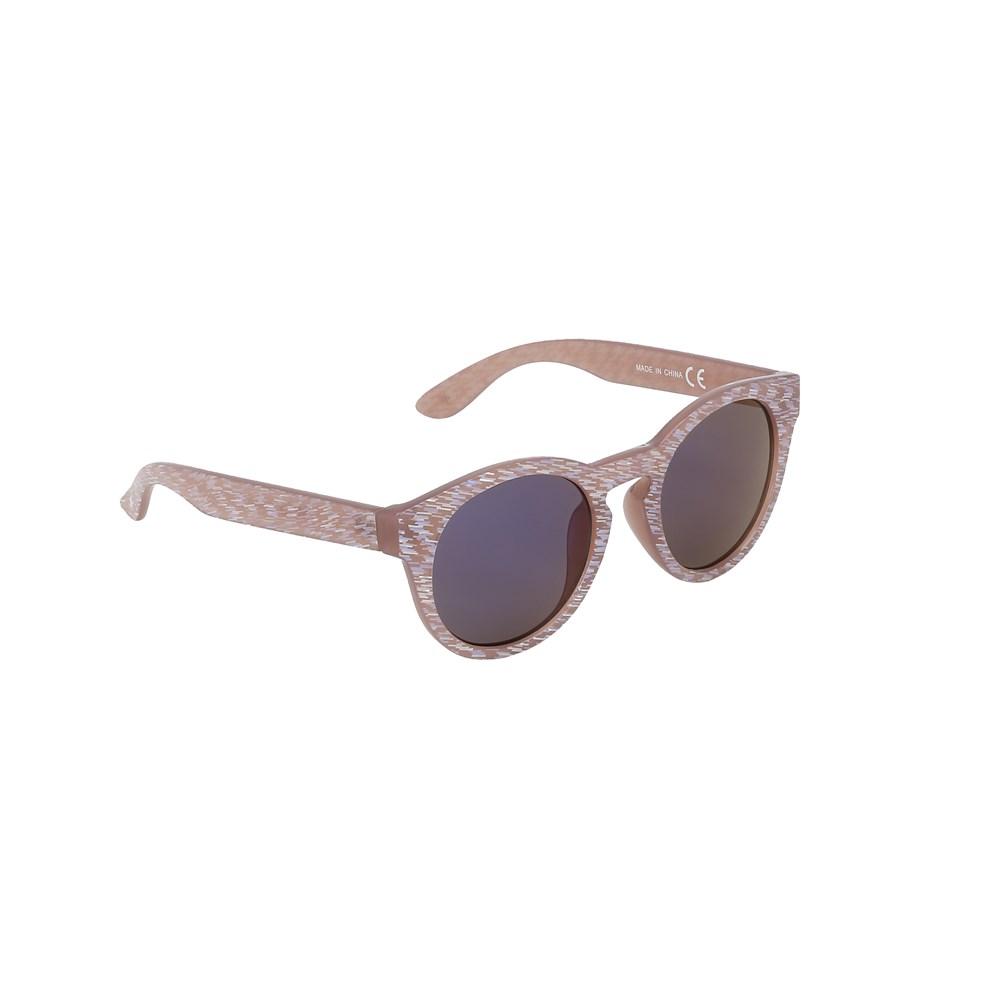 Sylvia - Rose Sand - Beige solbriller med glitter