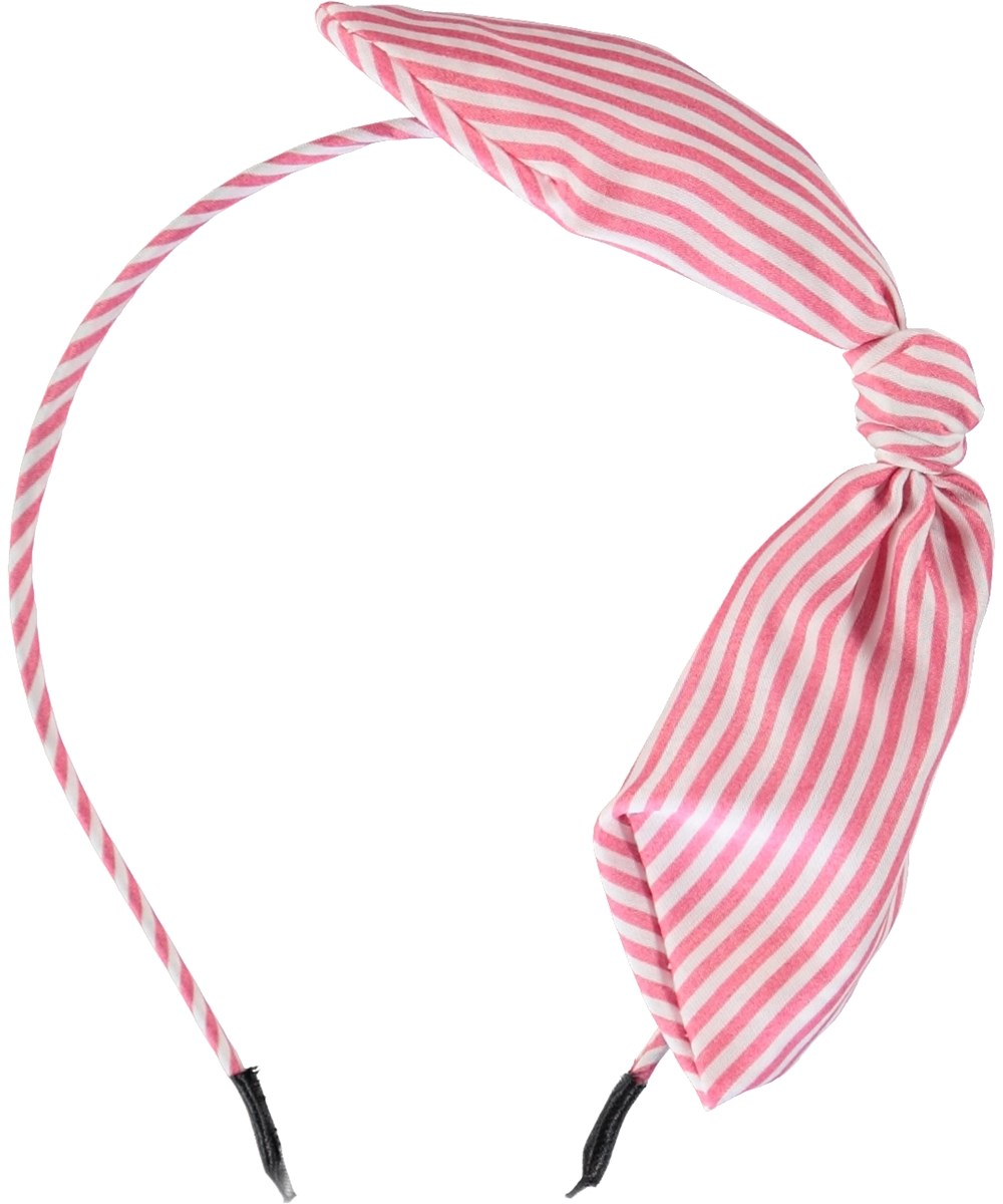 Tie Bow Hairband - Fiesta Pink - Tie Bow Hairband