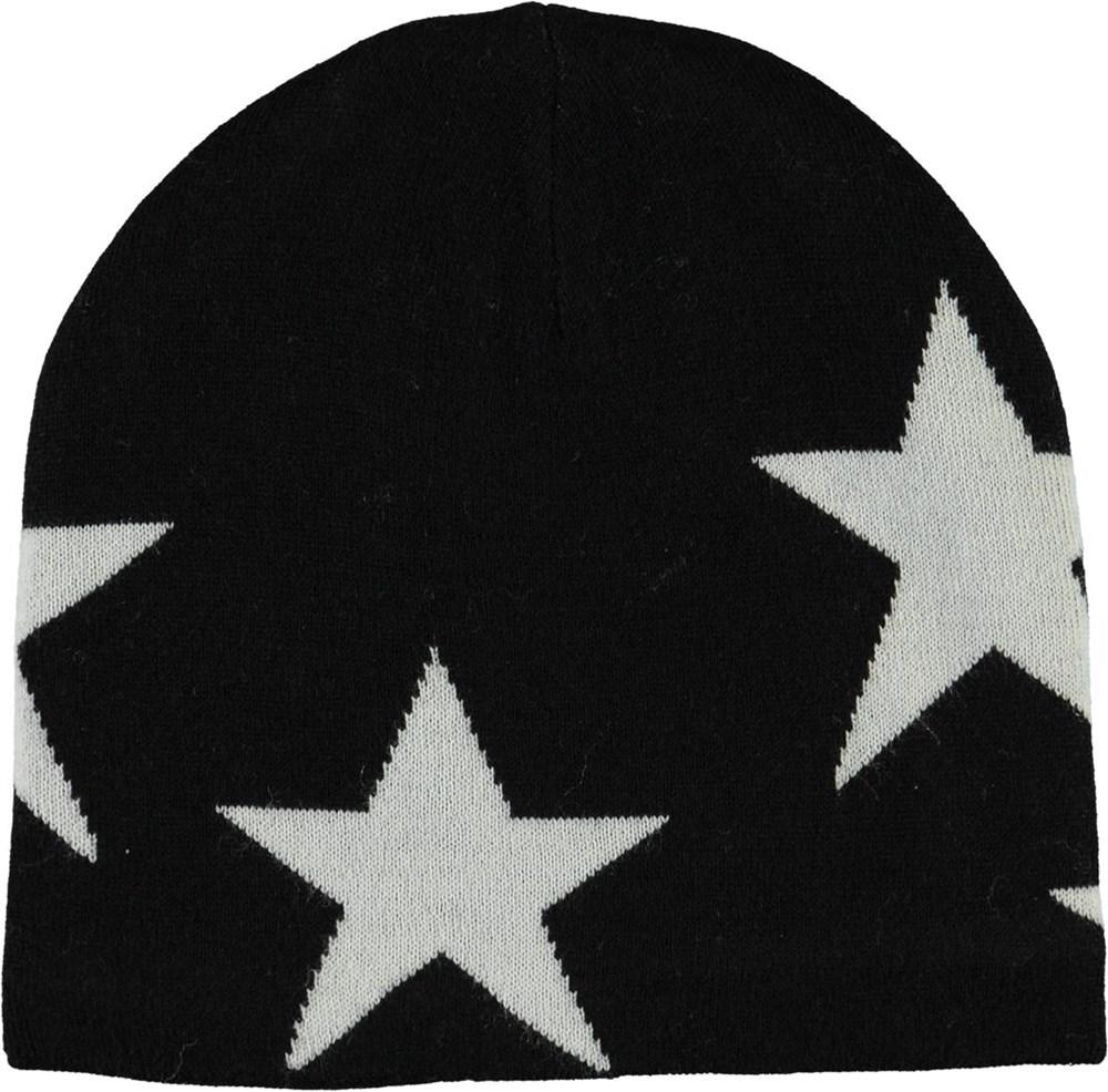 Colder - Black - Sort strikhue med stjerner