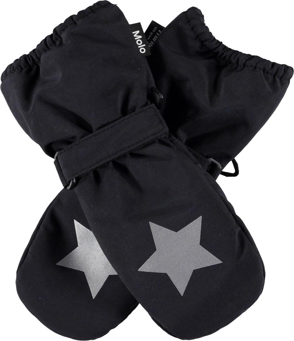 Igor - Very Black - Sorte luffer med stjernerefleks.
