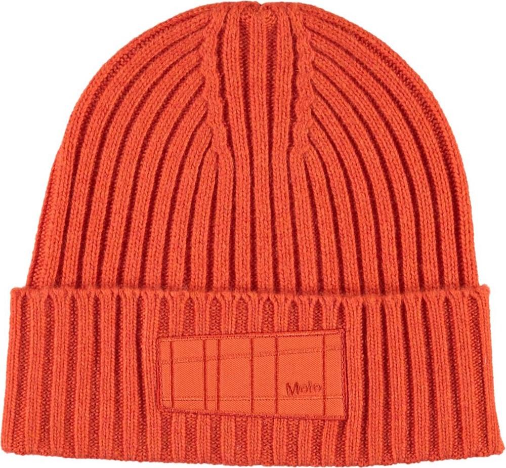 Karli - Signal Orange - Orange kabelstrikket hue