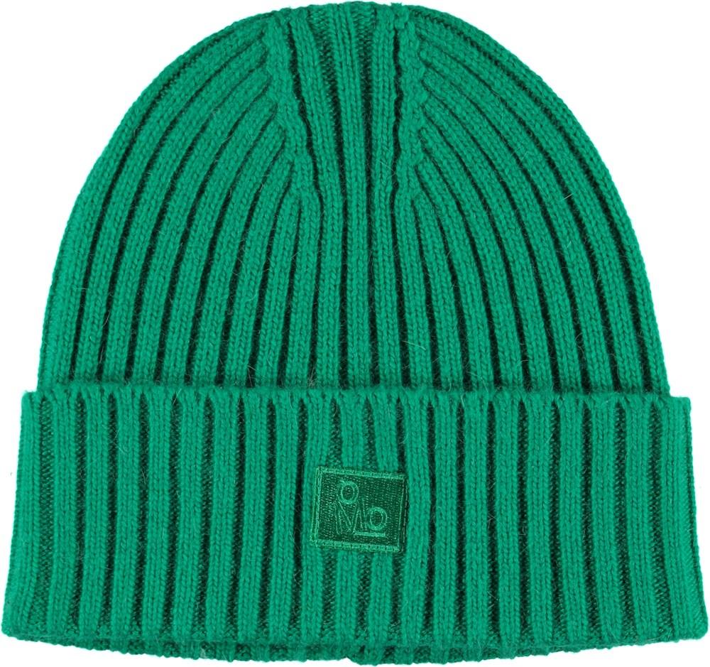 Karli - Total Green - Kabelstrikket grøn hue.