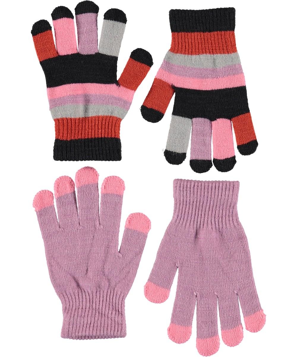 Kei - Star Dust - Handsker i lyselilla og striber.
