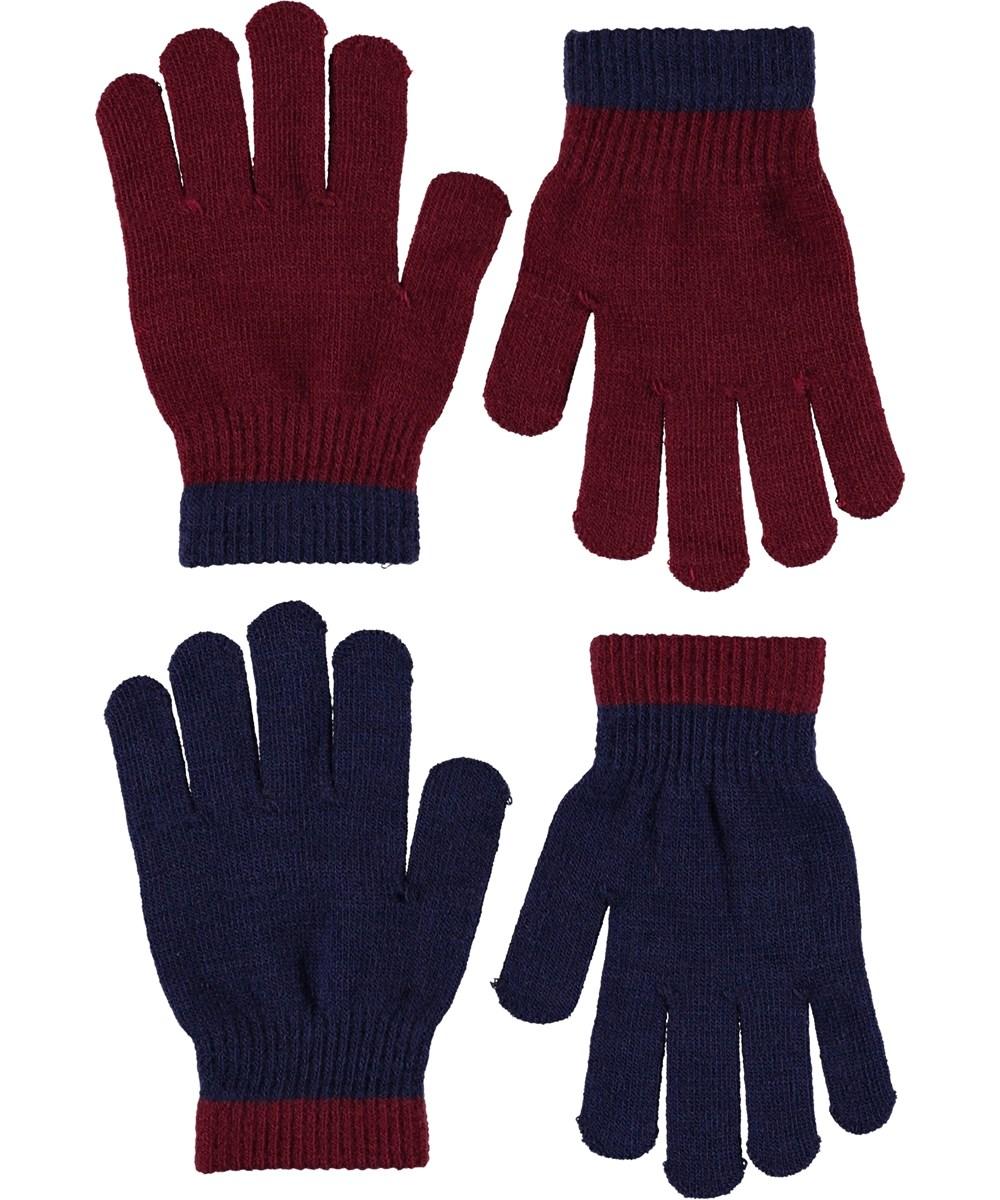 Kello - Carbernet - Handsker i blå og boardeux.