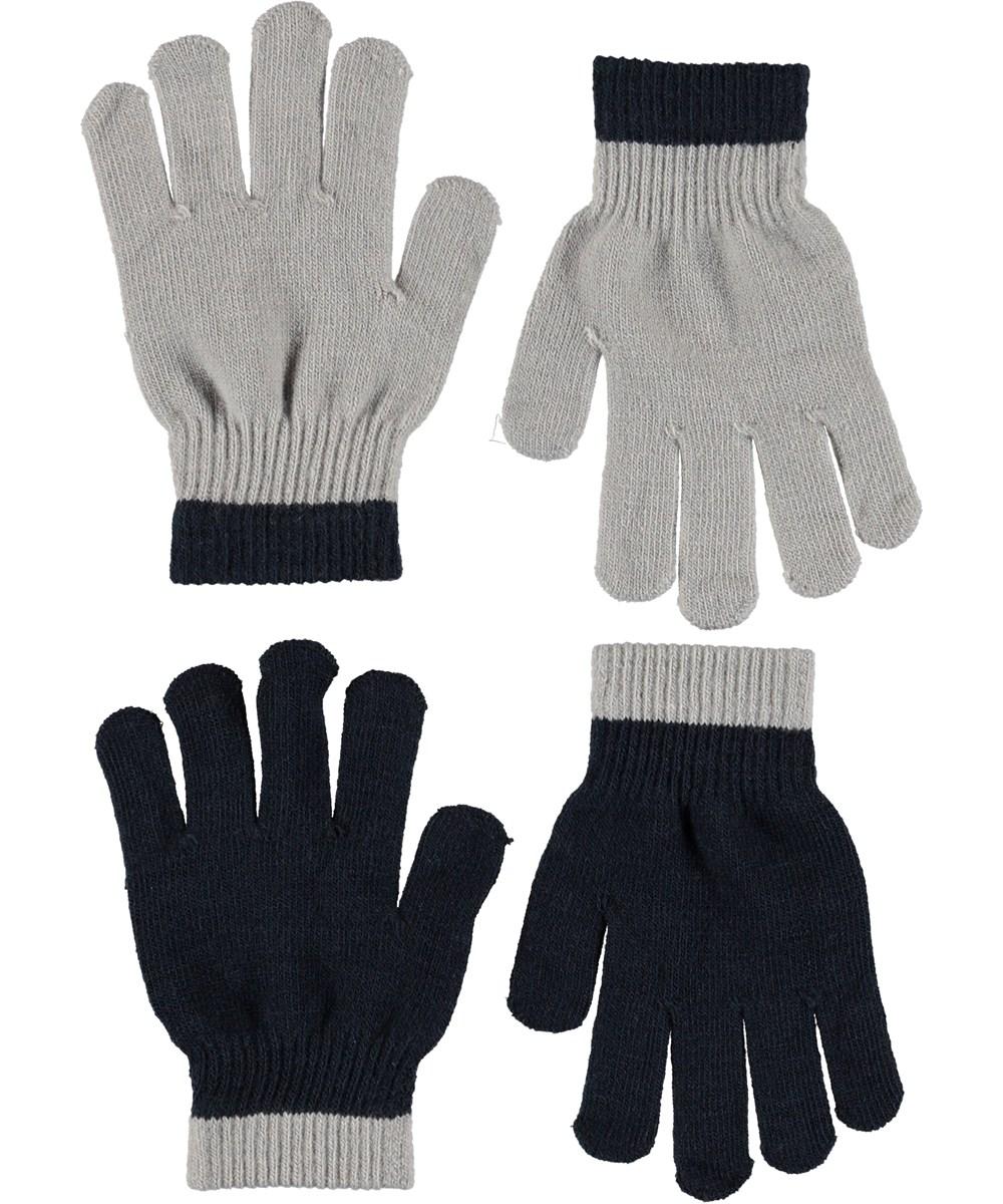 Kello - Grey Melange - Handsker i grå og sort.