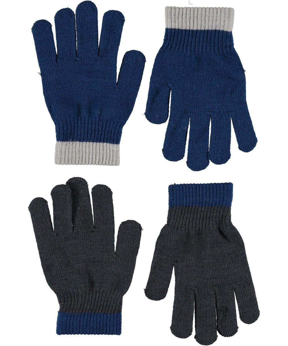 Kello - Ocean Blue - Handsker i blå og grå.