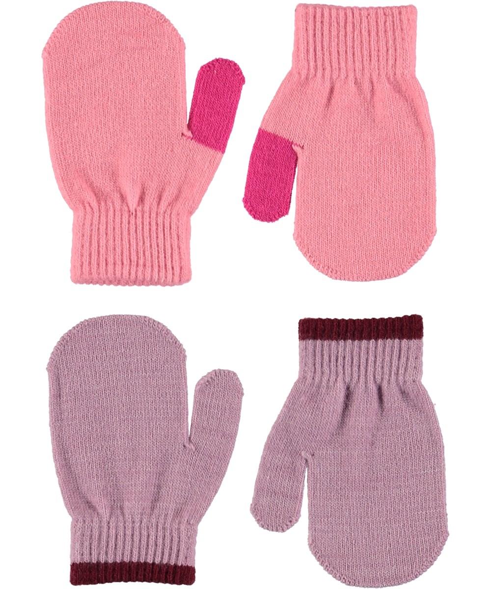 Kenny - Bubble Pink - To par baby luffer i pink og lilla.