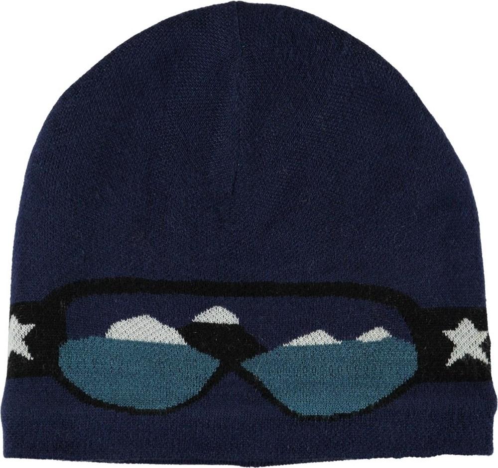 Kenzie - Ink Blue - Blå hue med skibrille