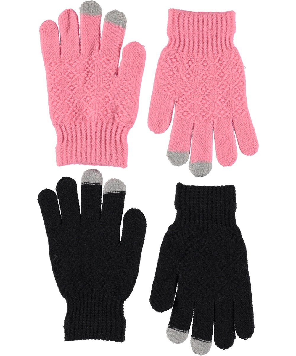 Kyra - Bubble Pink - To par strik handsker