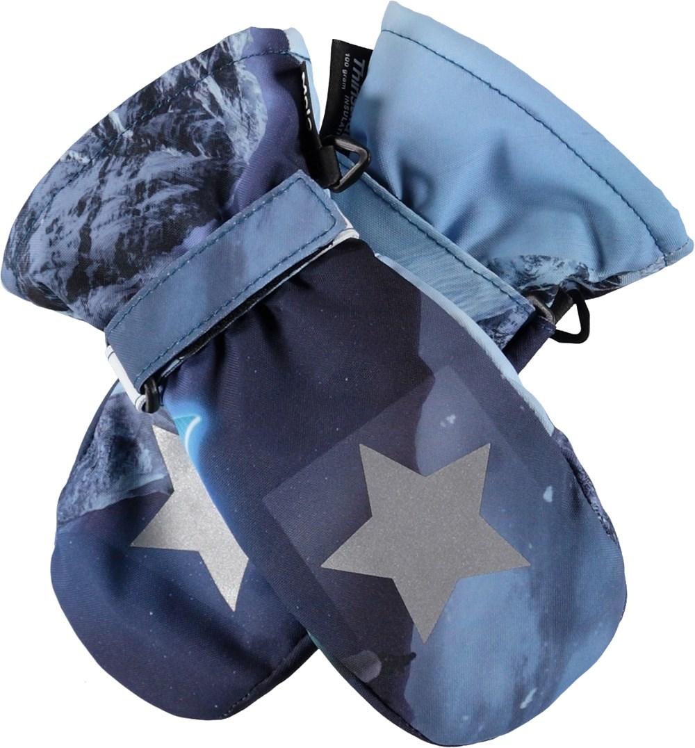 Mitzy - 24 Hrs - Blå handsker med stjernerefleks.