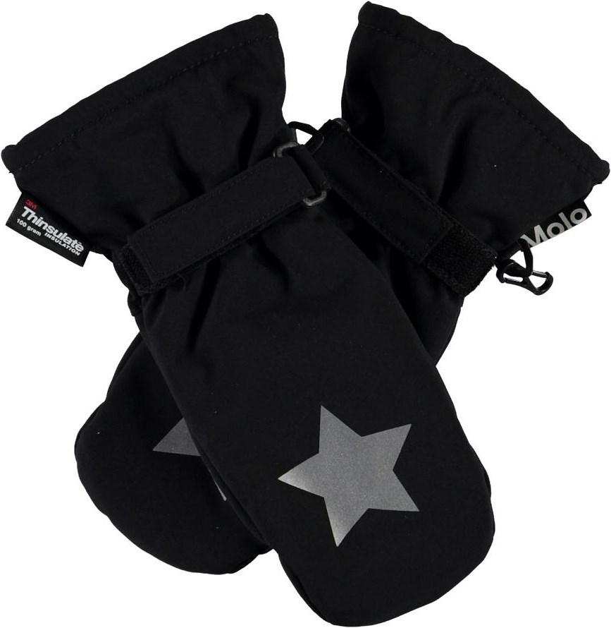 Mitzy - Black - Sorte luffer med stjerne