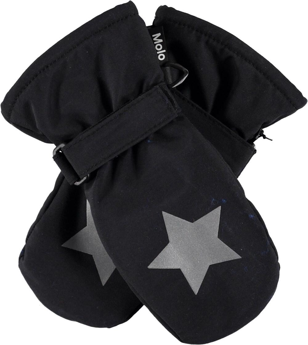 Mitzy - Very Black - Sorte luffer med stjernerefleks.