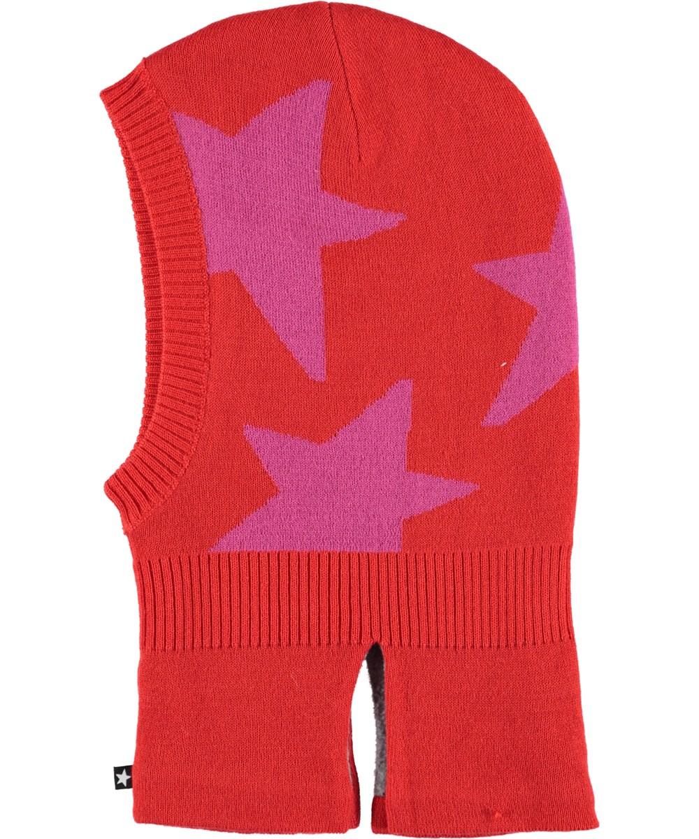 Snow - Fiery Red - Rød elefanthue med stjerner.