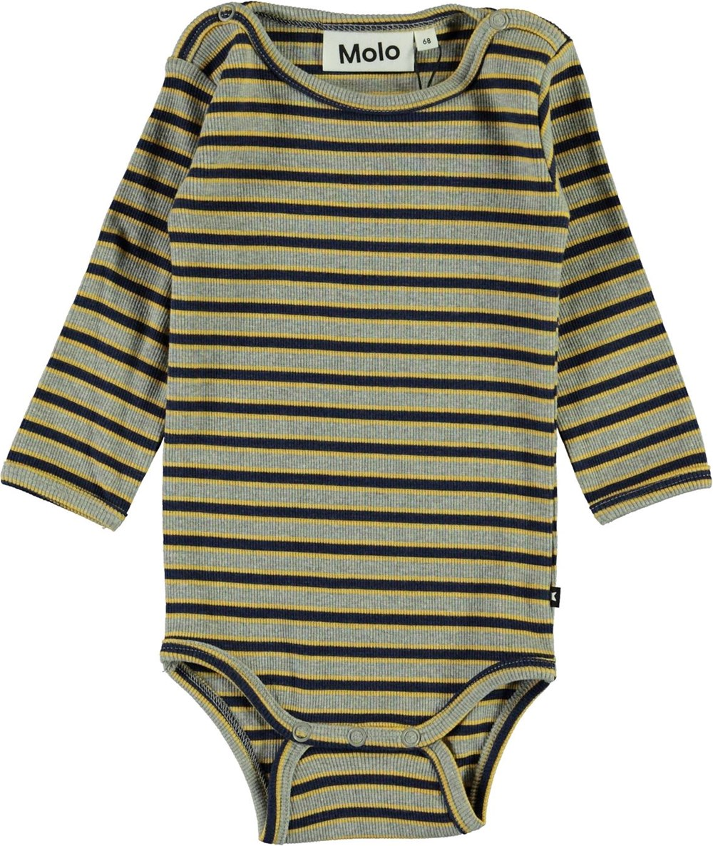 Fair - 3 Colour Stripe - Striped baby bodysuit