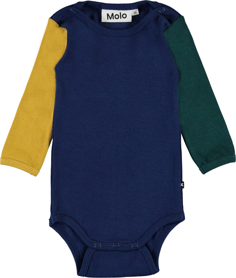 Fair - Colour Block - Colour-blocked baby bodysuit