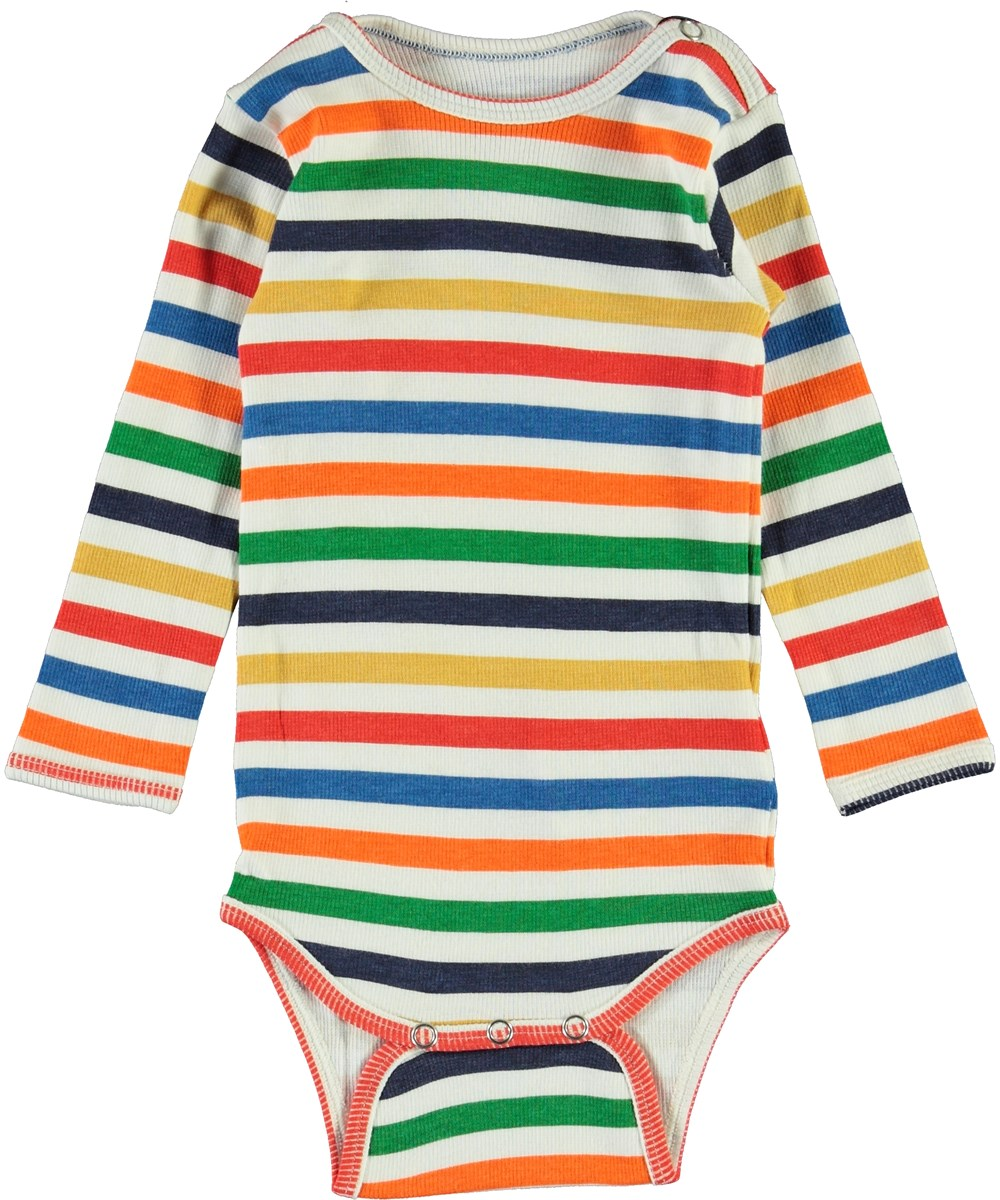 Fair - Multi Colour - Multi-striped baby bodysuit