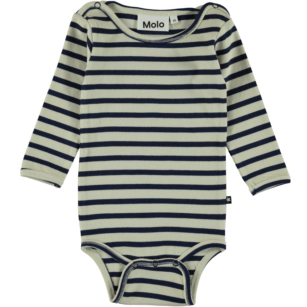 Fair - Sailor Blue Stripe - Baby Bodysuit