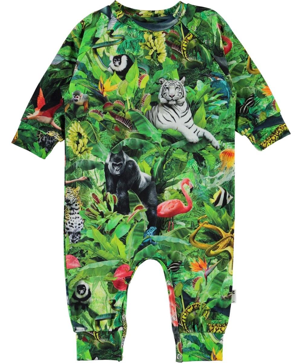 Fairfax - Fantasy Jungle - Organic baby bodysuit with animal print