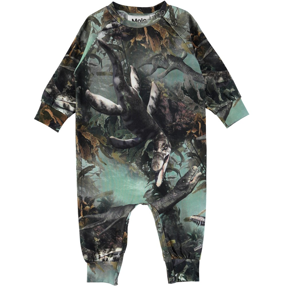 Fairfax - Lake Monters - Baby romper with digital print of sea animals