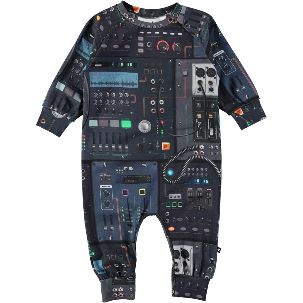 Fairfax - Mixer - Baby romper with digital mixer print