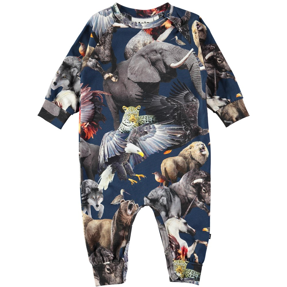 Fairfax - National Animals - Baby romper with digital print of the world's national animals