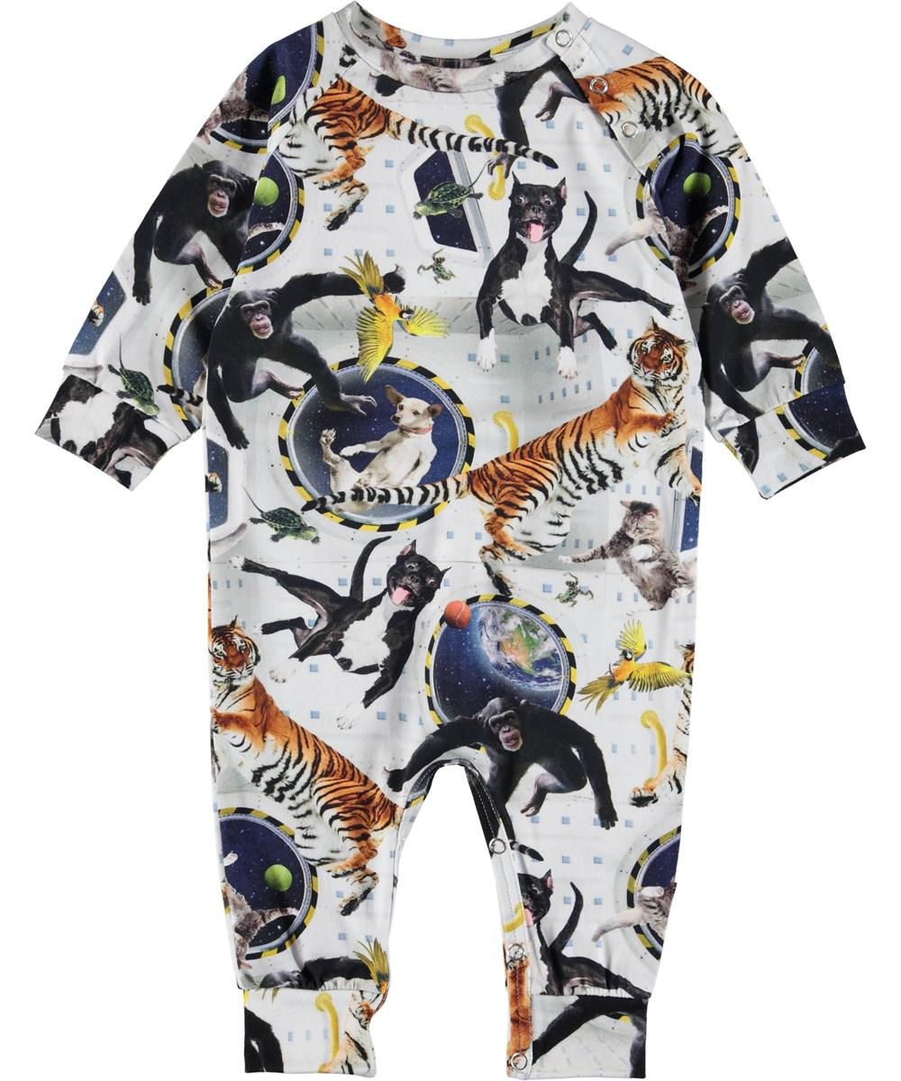 Fairfax - No Gravity - Baby romper with animals.