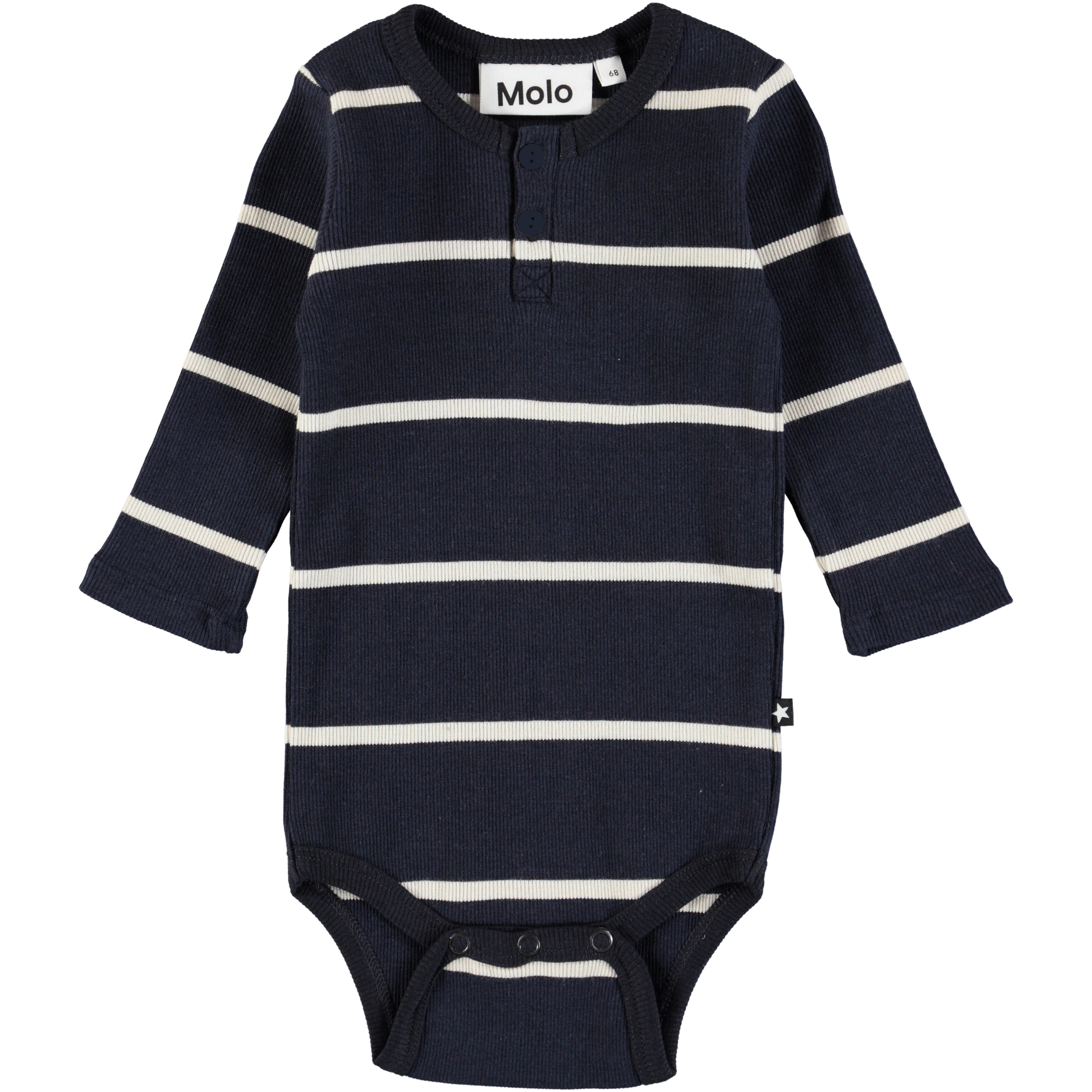 492eb3c17ecb Falk. Click to zoom. Falk - Dirty White Stripe - Long sleeve, striped baby  ...