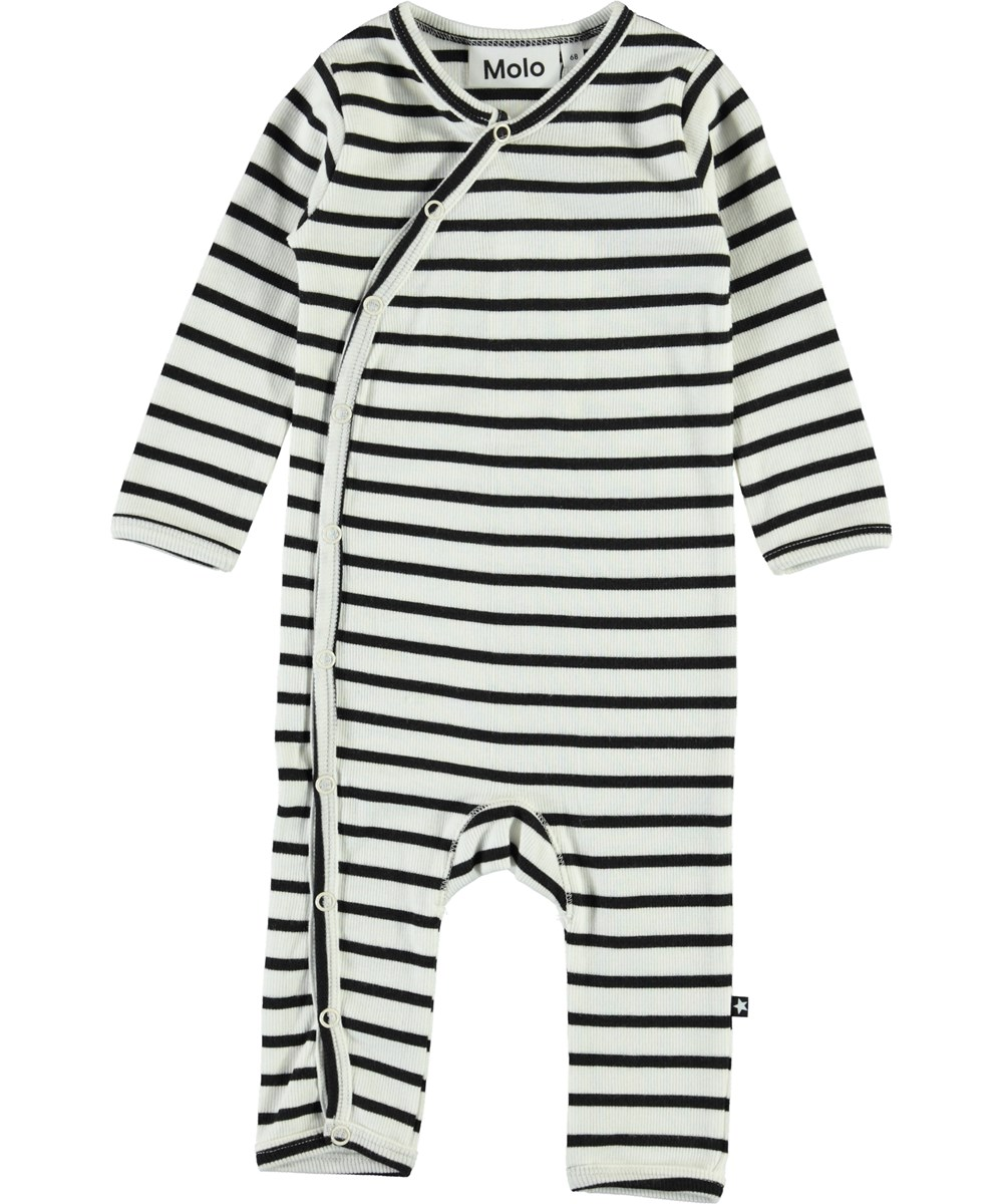 Fellow - Black Stripe - Breton striped baby bodysuit