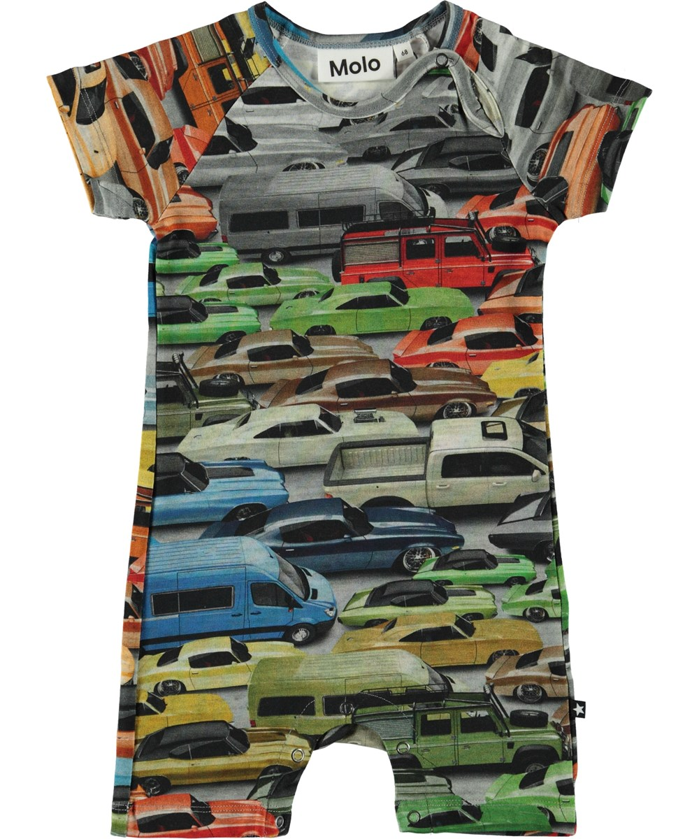 Felton - Cars - Organic baby bodysuit with cars