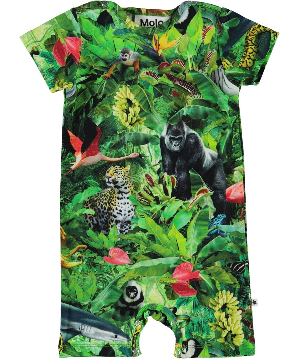 Felton - Fantasy Jungle - Organic baby bodysuit with animal print