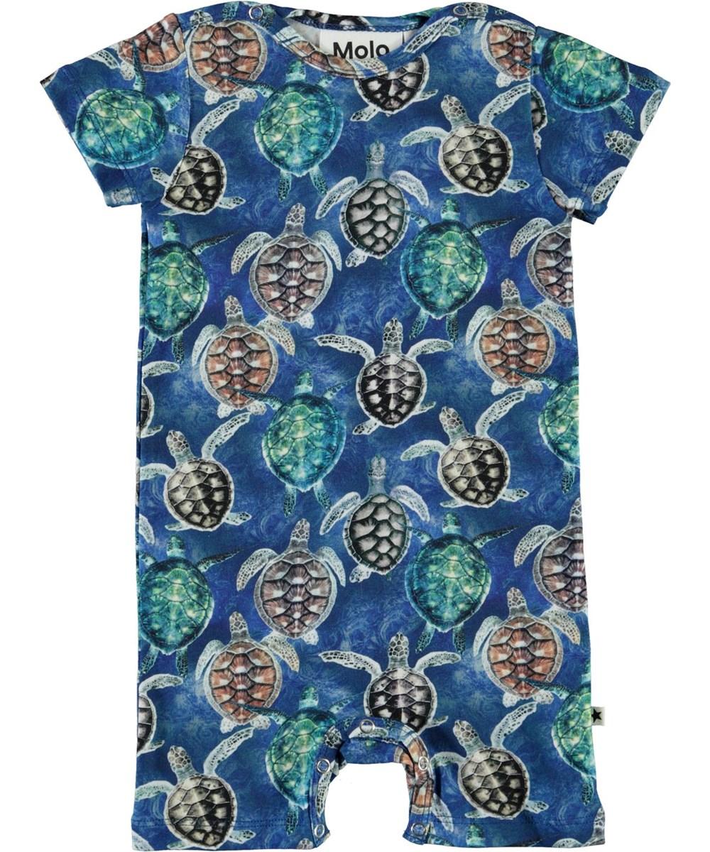 Felton - Mini Turtles - Organic baby bodysuit with turtles