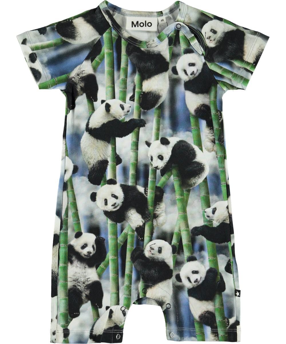 Felton - Panda - Organic baby bodysuit with pandas